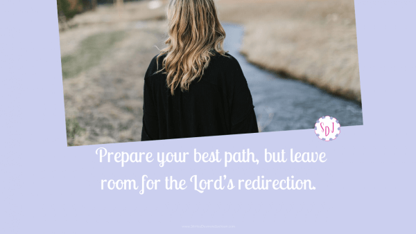Uncertainty makes it difficult to make plans. The BIble teaches us to make the best plan, but to be open to the Lord's redirection.