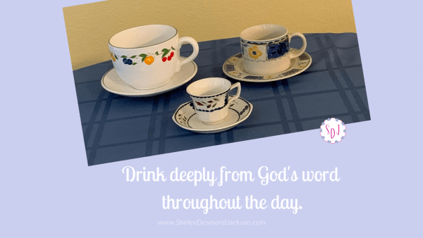 We need to drink from God's word throughout the day, just as we do coffee. Coffee habits in France provide us with the perfect formula.
