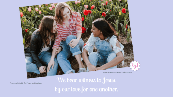 Jesus asks us to love each other the way He loves us. When we do this, others will see we are His disciples and be drawn to Him.