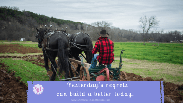 We all have regrets. Their sting can cause us to look back and miss the present. Or we can learn from them and build a better present and future.