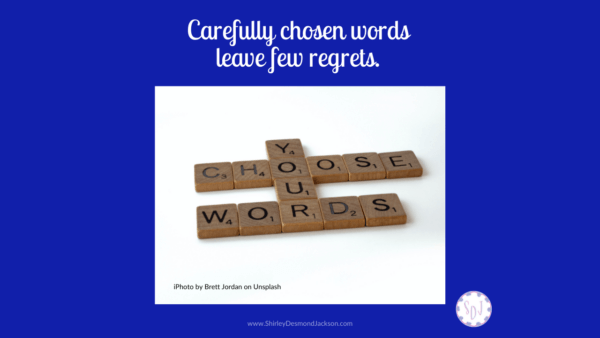 We all struggle to control our words. Words are powerful: they can help or hurt. Taking time to listen before speaking helps us control our tongue.